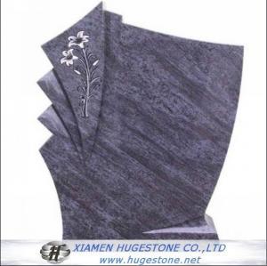 Quality Regular G602 Flower Carved Granite tombstone for sale