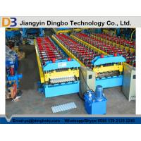 Quality Hydraulic Control Roof Panel Roll Forming Machine Automatic Stacking Machine Chain Transmission for sale