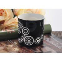 Quality Balck backage white circle Ceramic Candle Holder , cylinder round ceramic candle jars for sale