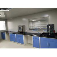 China Multi Color Laboratory Benches And Cabinets With Reagnent Shelf / PP Water Faucet on sale