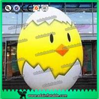 Quality 2m Inflatable Chicken Cartoon Advertising Giant Egg Inflatable For Event for sale