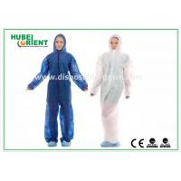 Buy cheap Hooded Disposable Protective Coverall With Elastic Wrist / Ankle / Waist,with feetcover or without feetcover from wholesalers
