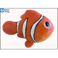 Quality Small Orange Resin Artificial Fish for Aquarium Decoration / Custom Fake Fish Ornaments for sale