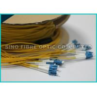 Quality 0.9MM LC Duplex Round Ribbon Fiber Cable Single Mode Pre Terminated for sale