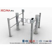 Quality Double Core Biometric Pedestrian Security Gates Stainless Steel With Access Control for sale