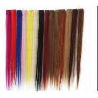 Quality Synthetic Fibre Hair Extensions Straight Double Drawn Human Hair Wefts for sale