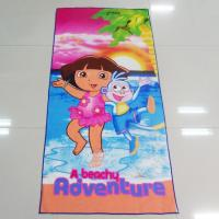 Quality Multi Purpose Microfiber Beach Towels Dora Adventures Pattern For Car Cleaning for sale
