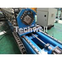 Quality 16 Stations Cold Roll Forming Machine With Rubber Belt Driven Servo Tracking Cutting Device for sale