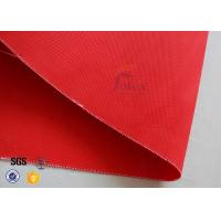 Buy 0.35mm Acrylic Coated Fiberglass Fabric Fire Blanket For Industrial Protection at wholesale prices