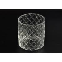 Quality Pillar Cut Glass Candle Holders Decorative Glassware Customizable for sale