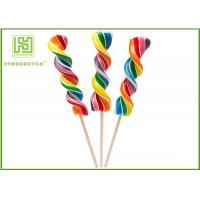 Quality Biodegradable Wooden Lollipop Sticks With Ball Hot Stamping Logo Printed for sale