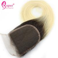 Quality Pre Plucked Lace Virgin Hair Closures Ombre Cuticle Aligned Straight for sale