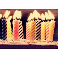 Quality Decorative Spiral Birthday Candles , Funny Smelless Twisted Birthday Candles for sale