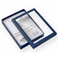 Quality Premium Jewelry Paper Boxes Big Set Transparent Window For Necklace Packaging for sale