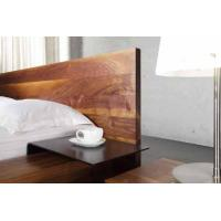 Quality Solid Aluminium Simple Walnut Bed Set Luxury Home Dark Walnut Bedroom Furniture for sale