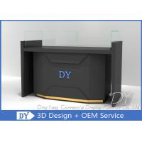 Quality Matte Black Store Jewelry Display Cases / Jewellery Counter Display for sale