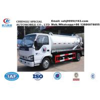 Factory customized ISUZU LHD 5m3 vacuum tank truck for sale, HOT SALE! lowest price ISUZU sewer suction truck