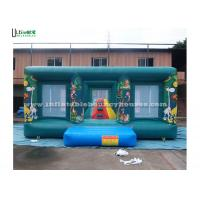 Commercial Jungle Themed Bouncy Castle , Rent Inflatable Bouncers