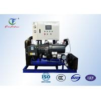 Quality Cold room Bitzer Water Cooled Screw Chiller energy saving with PLC controller for sale