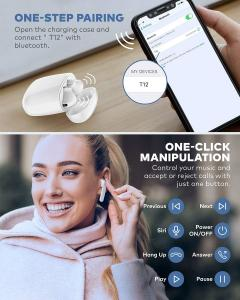 Quality IPX7 Waterproof Bluetooth 5.0 True Wireless Earbuds 35H Cyclic Playtime TWS Headphones with Charging Case and mic for sale