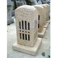 Quality Light Beige Stone Sculpture , Granite Stone Carving for Decoration for sale