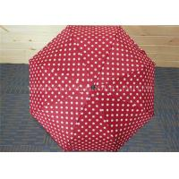 "Quality Promotive Gift  White Polka Dot Folding Umbrella , Compact Automatic Umbrella 21"" for sale"