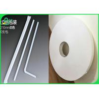 Quality 28gsm 60gsm 120gsm Food Grade White Kraft Liner Paper Roll For Making Straw Tubes With 14mm 15mm 27mm for sale