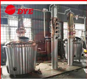 Quality 200L USA Hot sale 304 stainless steel vodka whisky rum brandy distiller distillation column for sale