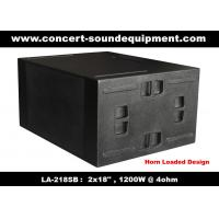 Quality Line Array Sound System / 2x18 Horn Loaded 4ohm 1200W Subwoofer For Concert And Living Event for sale