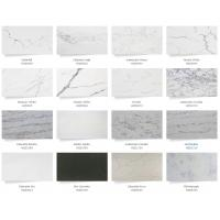 Quality White Quartz Solid Stone Countertops For Kitchen 2.5 G / Cm3 Bulk Density for sale