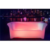 Quality Two Seats LED Sofa 8-10 Hours Working Time Ployethylene Indoor LED Couches for sale