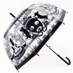 Quality Manual Open Stripe Transparent POE Umbrella ,  Clear Dome Umbrella for sale