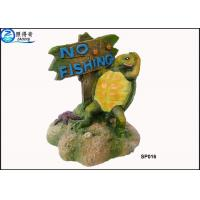 Quality Household Eco Friendly Unusual Large Fish Tank Ornaments Decoration With Notice Signs for sale