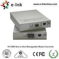 Quality E-link 10 / 100M One to One Manageable Fast Ethernet Media Converter with Internal Power Supply for sale