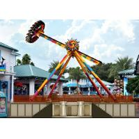 Adult Big Outdoor Pendulum Amusement Ride With Colorful LED Lights For Theme Park