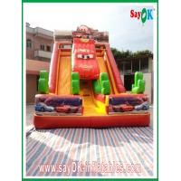 Durable PVC Inflatable Bouncer Slide , Inflatable Water Slide Car Model