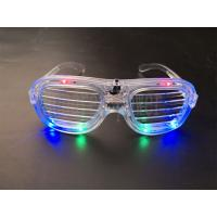 Quality Fashion Led Flashing Glasses 6 Led Cool Glow In The Dark Glasses For Decoration for sale