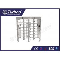 Buy cheap 304 stainless steel dual lane full body turnstile gate with 120 degree revolving from wholesalers