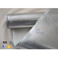 Quality 800℃ 700g 0.8mm Silver Coated High Silica Fabric Cloth For Heat Resistant for sale