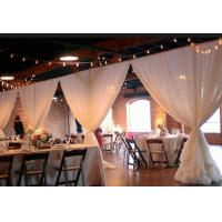 Quality Wedding backdrop decoration Telescopic poles pipe and drape cheap event pipe and drape for sale wedding pipe and drape for sale