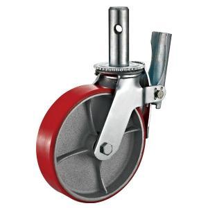 Quality Heavy Duty 8 Scaffolding Wheels , Casting Iron Hab Scaffold Tower Adjustable Wheels for sale