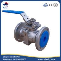 Quality Lever operated 2pc stainless steel floating ball valve for sale