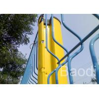 China Triangle Bended Pvc Coated Welded Wire Fencing Panels With Steel Post / Powder Coated on sale