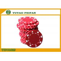 Quality Poker And Clubs Pattern Clay Composite Poker Chips 13.5G PANTONE Colors for sale