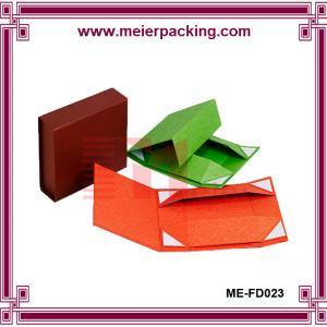 Quality Hot sale art paper cardboard gift box, customize t-shirt flat black box ME-FD023 for sale