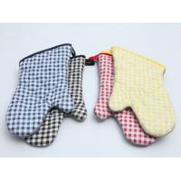 Quality Durable Pot Holder Gloves , Cotton Oven Gloves Good Water Absorbtivity for sale