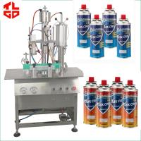 Quality Spray Can LPG Gas Filling Machine , Butane Gas Cassette Filling Machine for sale