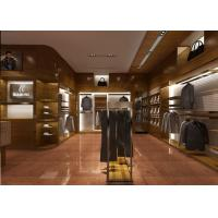 Buy Retail Shop Fixtures / Clothing Display Case Top Grade Grained Veneer Wooden Material at wholesale prices