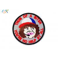 China Decorative Embroidered Jacket Patches , Personalised Embroidered Patches For Clothing on sale