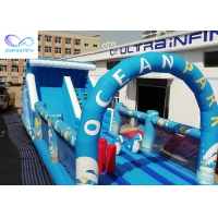 Quality Giant outdoor Inflatable ocean park water slide with bounce house for rental or party for sale